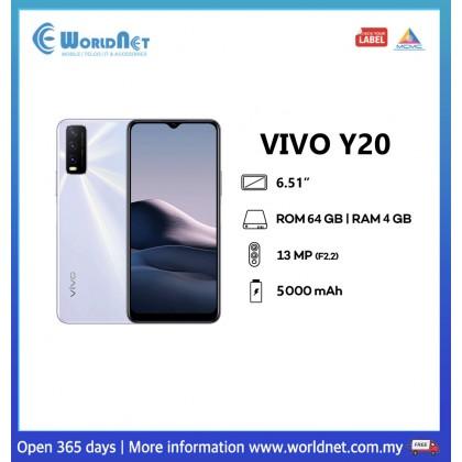 """Vivo Y20 6.51"""" 4GB RAM + 64GB ROM 5000 mAh"""