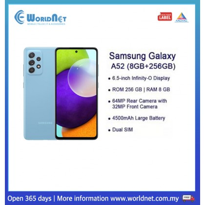 "Samsung Galaxy A52 6.5"" 8GB RAM + 256GB ROM 4500 mAh"